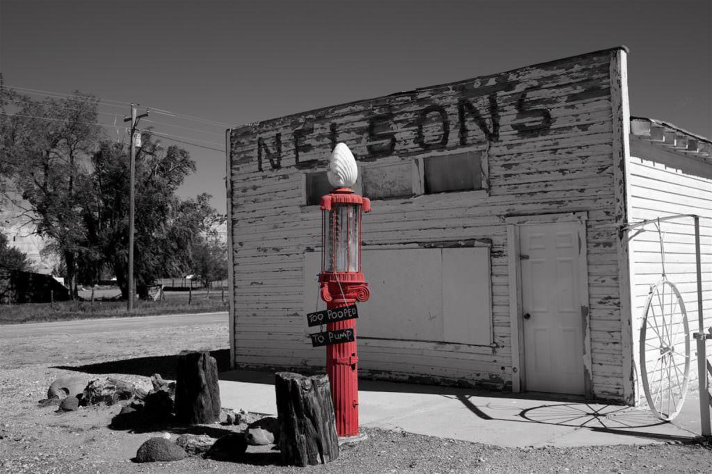 Nelsons, Tankstelle, Utah, Cottonwood Canyon Road