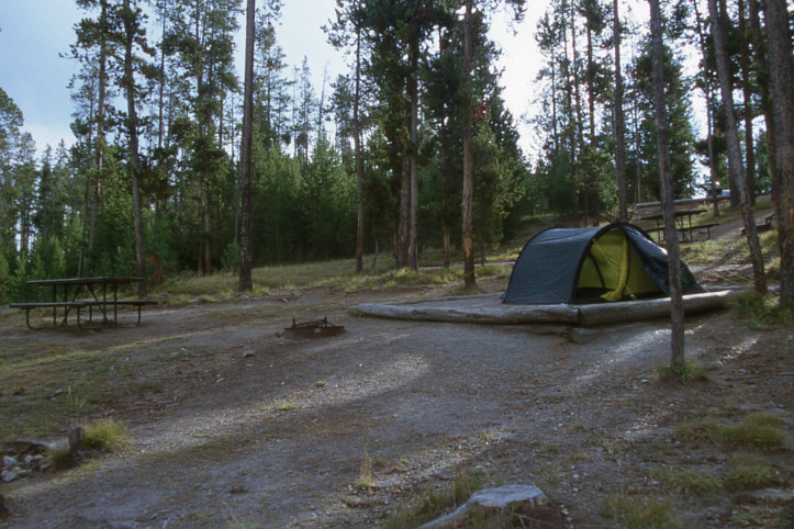 Zelten, Yellowstone NP